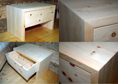 Ein Schlafzimmer aus Zirbenholz 4