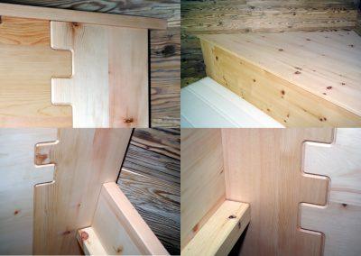 Ein Schlafzimmer aus Zirbenholz 6