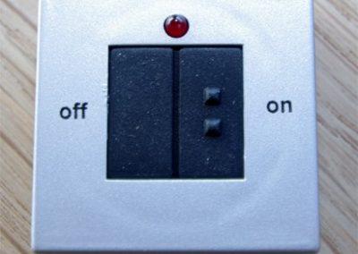 Schalter für die Beleuchtung
