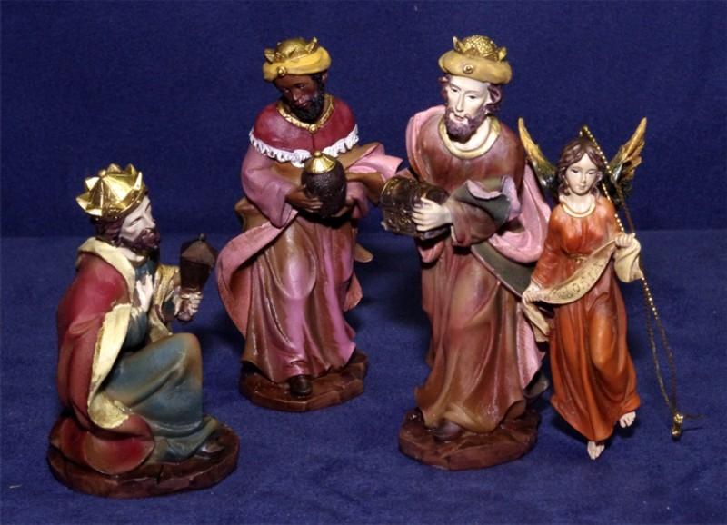 Bild Krippenfiguren groß und bemalt Heilige Drei Könige