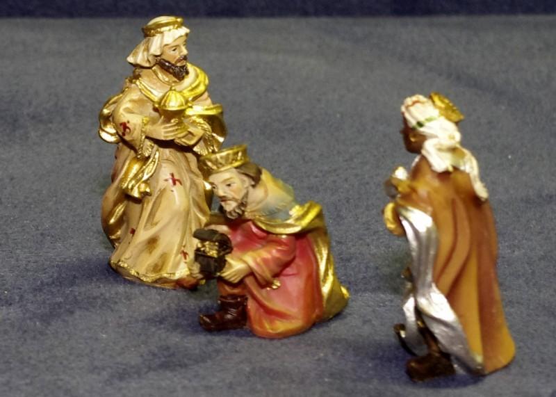 Kleine bemalte Krippenfiguren Heilige Drei Könige