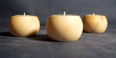 Teelichthalter aus Zirbenholz