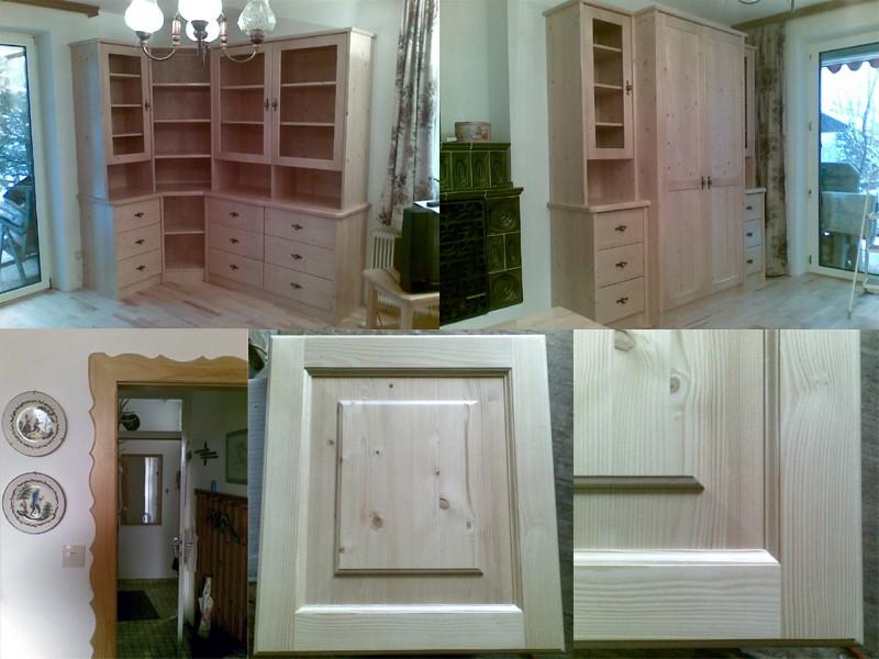 Wohnzimmerverbau und Rahmentür