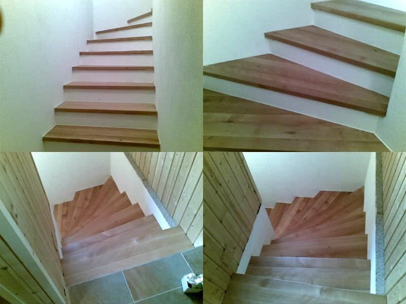 Treppenbau mit Holztrittstufen